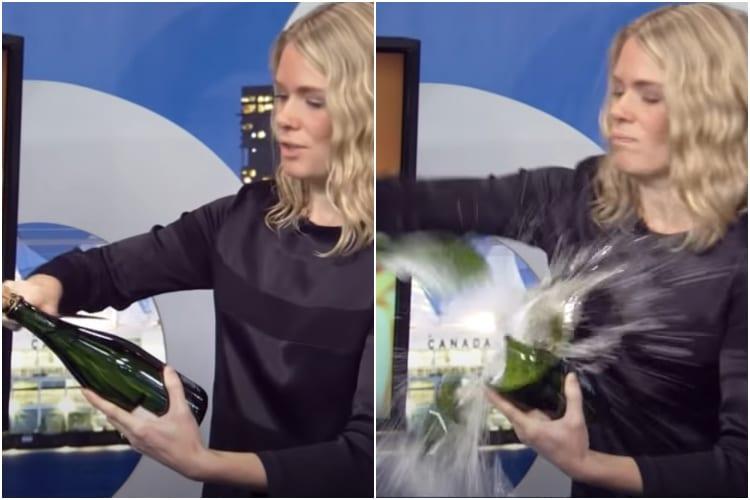Emily Walker et l'incident de la bouteille de champagne